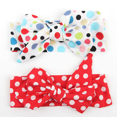 Baby Girls Floral Headwrap Top Knot Big Bow Turban Tie Headband Hair Accessories 6