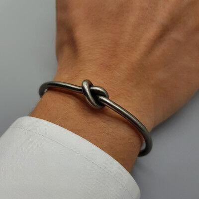 Bracciale uomo rigido nodo acciaio inossidabile da braccialetto in con inox 5