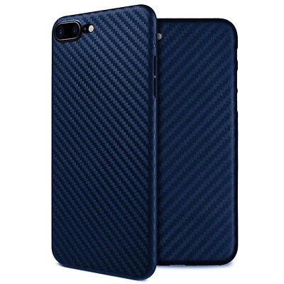 Coque Etui Housse Silicone Case Fibre Carbone iPhone 6 6S 7 Plus 8 X XR XS MAX