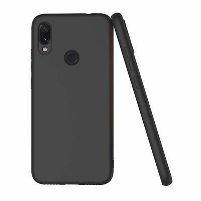Cover Custodia + Pellicola Vetro Temperato Per Xiaomi Redmi Note 7 Nero Opaco 3