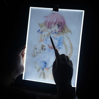 Tableta Gráfica Electrónica A4 De Dibujo De Arte Digital USB Luz LED 3 Niveles 3