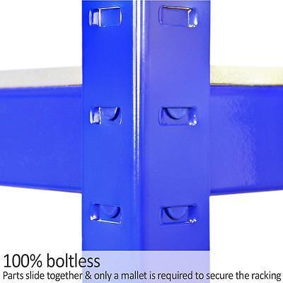 Garage Shelves 5 Tier Metal Shelving Heavy Duty Storage Racking Boltless 3 Bay 9