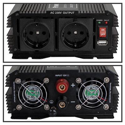 Spannungswandler Inverter 12V auf 230V 1500 3000 W Watt Wechselrichter 3