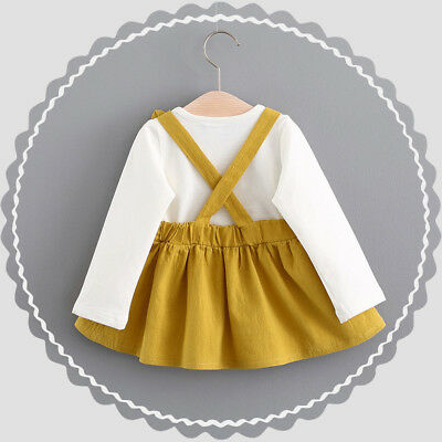 Toddler Baby Kids Girls Long Sleeve Princess Wedding Party Gown Prom Dress 2019 3