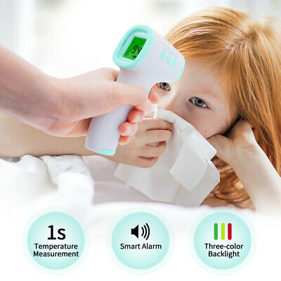 Infrared Thermometer Digital LED Forehead No-Touch Body Adult Temperature US ℉ 2