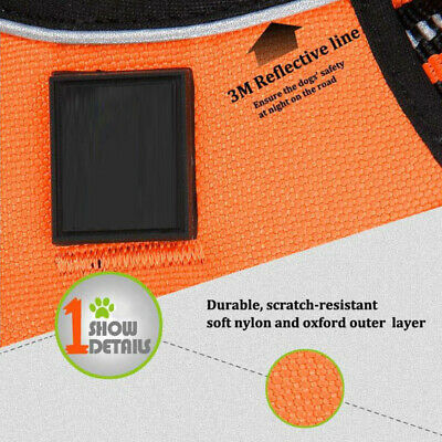 No-pull Dog Pet Harness Reflective Outdoor Adventure Pet Vest Padded Handle 3M 8