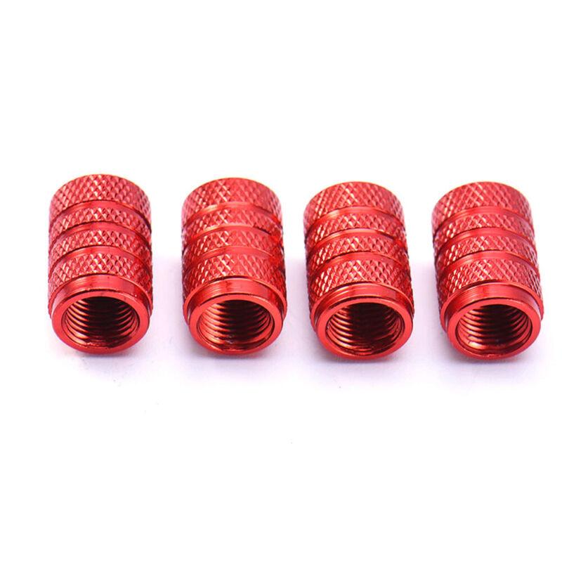 4pcs Aluminium Car Wheel Tyre Valve Stems Air Dust Cover Screw Cap Accessories 8