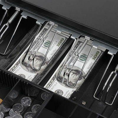 Electronic/Manual Security Lockable Cash Box Tray Money Drawer Safe Storage Keys 9