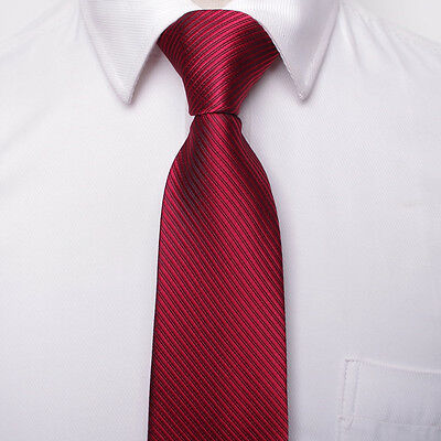 8CM  Men Jacquard Woven Tie Necktie Business Wedding Party Ties 17 style 5