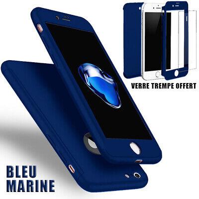 Coque Etui 360 Iphone 6 6S 7 8 5 Xr Xs Max 11 Pro Protection Vitre Verre Trempe 3