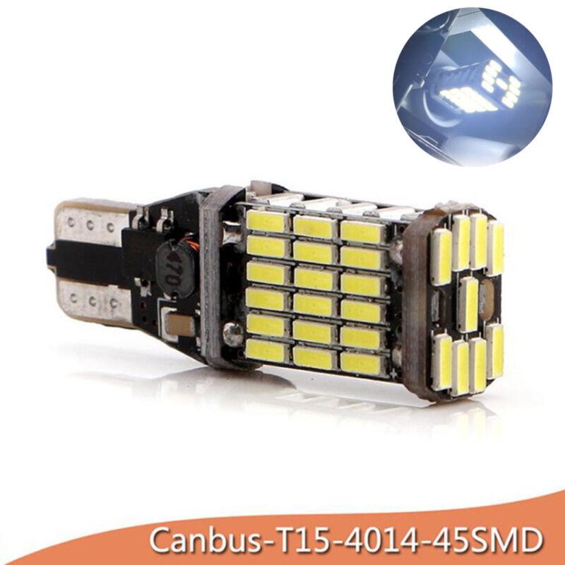 2PCS T15 W16W 45 SMD 4014 sans erreur Ampoule arrière de voiture Canbus LED FR