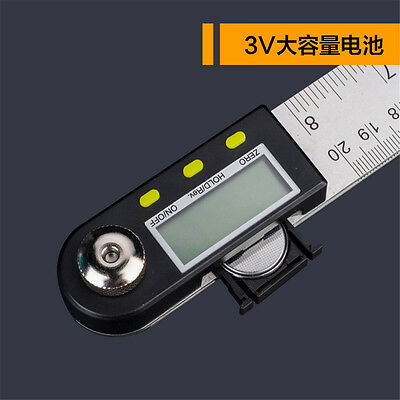 Digital Electronic Protractor Angle Finder Miter Goniometer Gauge Ruler 200mm 4