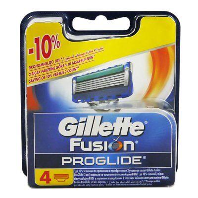 4 Gillette Fusion Proglide Ersatzklingen Klingen