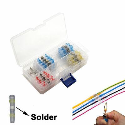 100PCS Solder Sleeve Heat Shrink Butt Waterproof 26-10 AWG Wire Splice Connector 2
