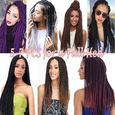 Colored Crochet Hair Extensions Kanekalon Hair Synthetic Braids Jumbo Braiding 3