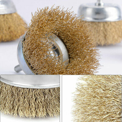 12x Drill Wire Wheel Brush Cup & Flat Crimped Steel Drill Attachment Brushes New 6