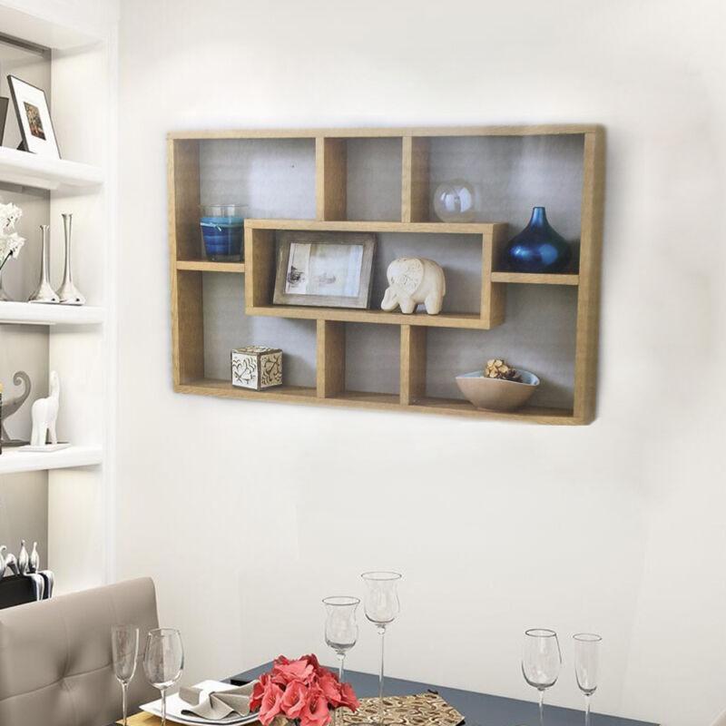 Space Saving Floating Wall Shelves Display Shelf Bookshelf Storage Unit UK 3