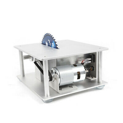 Mini Precision Table Saw DIY Woodworking Lathe Polisher Cutting Machine+3 blades 10