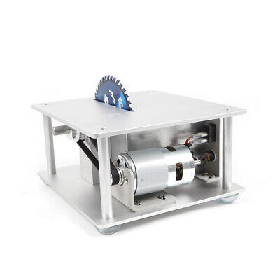 Portable Electric Mini Benchtop Table Saw Adjustable 96-120W Home Workshop Use 10