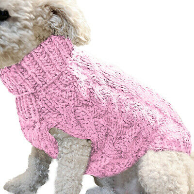 Pet Cat Dog Sweater Warm Dog Coat Jumpers Hoodie Cat Clothes for Puppy Small UK 7