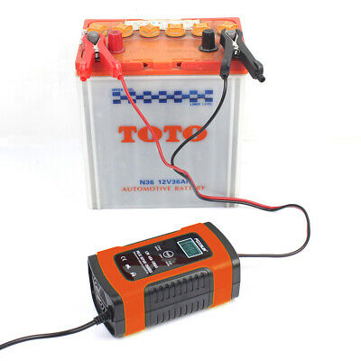 Car Battery Charger 12V 5A LCD Intelligent Automobile Motorcycle Pulse Repair UK 7