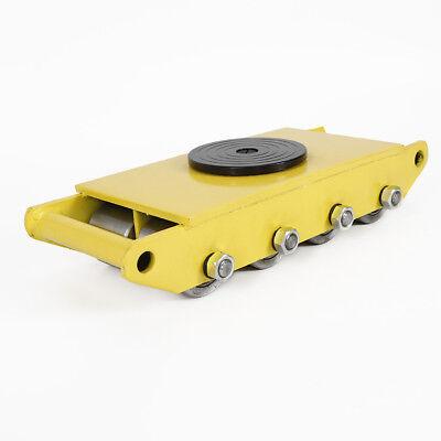 12 Ton Heavy Duty Machinery Cargo Mover Skate w/8 steel wheel handling 26400LBS 6
