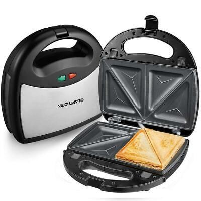 Laptronix 3 In 1 Sandwich Grill Waffle Maker Non-Stick Toaster Panini Press 750w 2