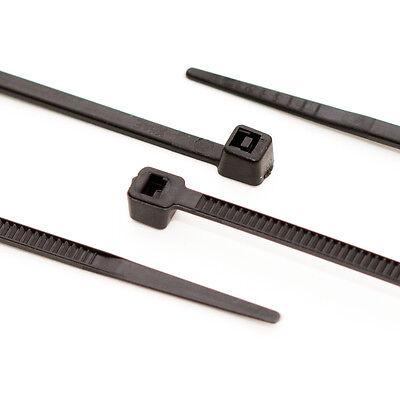 1000 x UV stabil Kabelbinder Schwarz 2,5 x 100 mm Tragkraft 8,2 kg nicht lösbar