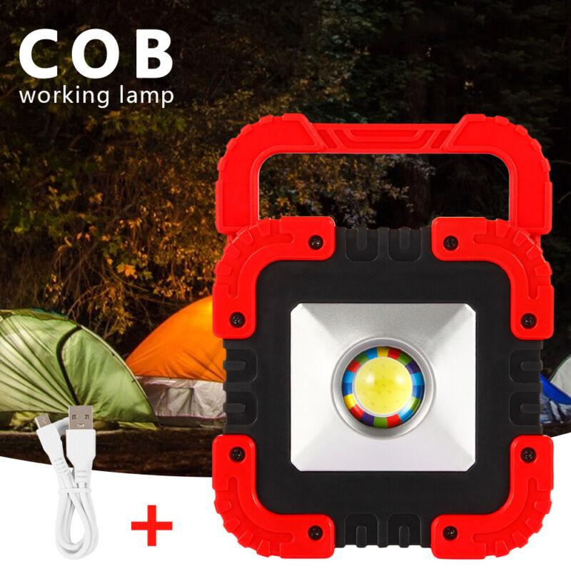 DHL 50W COB LED Arbeitsleuchte Solar Werkstattlampe Flutlicht For Camping Rot