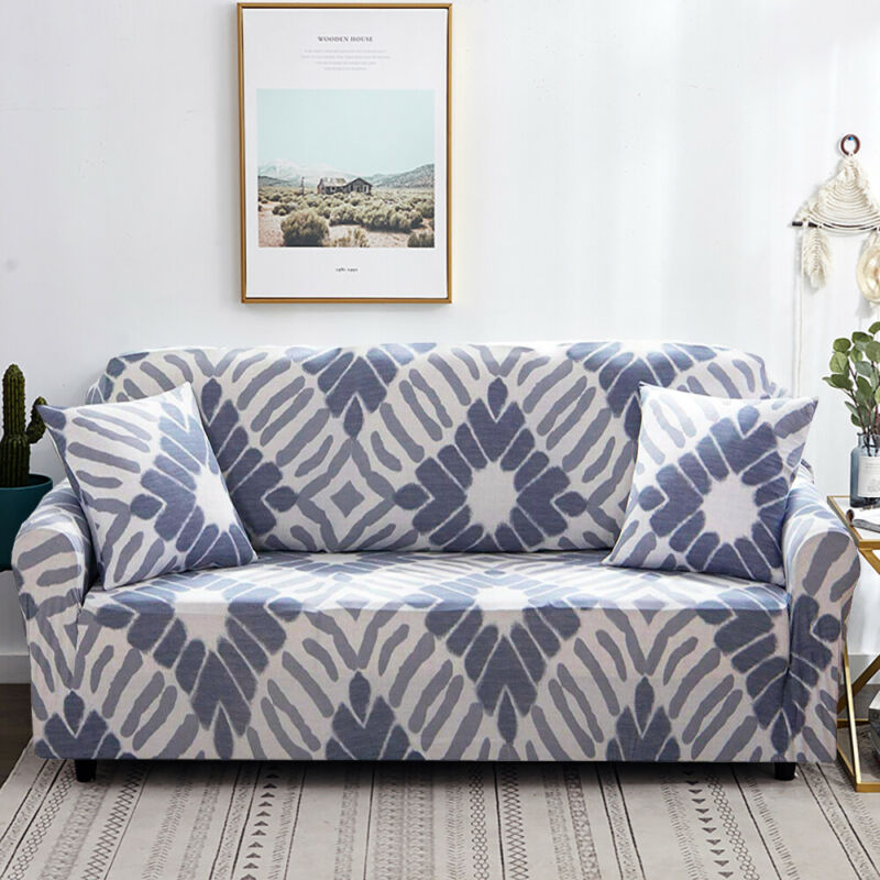 1-3 Sofa Covers Couch Slipcover Stretch Elastic Fabric Settee Protector Fit NEW 9