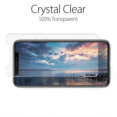 Fits For iPhone Xs Max XR 100% Genuine Clear Tempered Glass Screen Protector 5