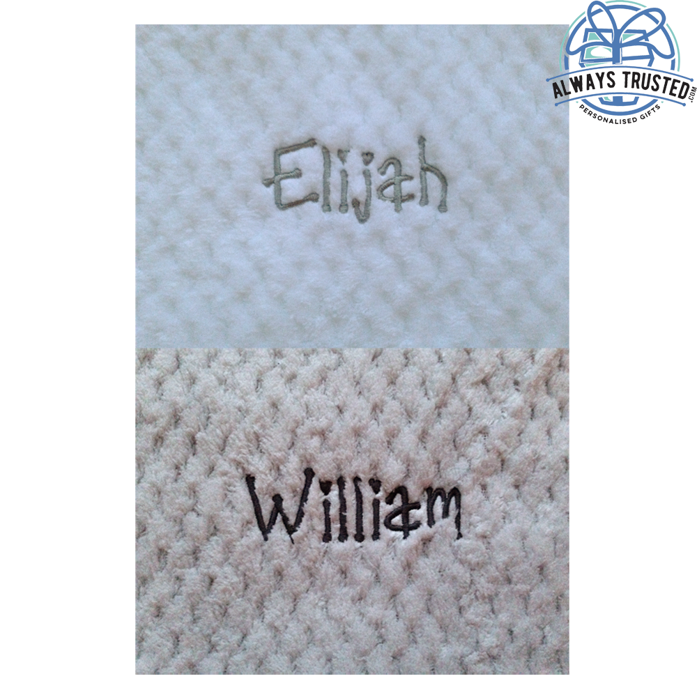 Personalised Baby Waffle Blanket Super Soft Newborn Christening Baby Shower Gift 5