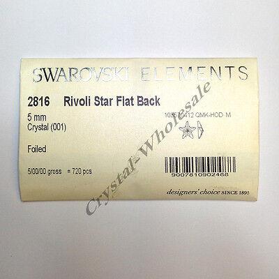 ... 12 pcs Swarovski 2816 Rivoli Star Flat Backs Foiled 5mm clear CRYSTAL  (001) 2 f881902494f5