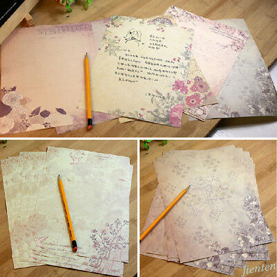 Rose Flower Writing Letter Paper Stationary Vintage Student Classic Stationery 5