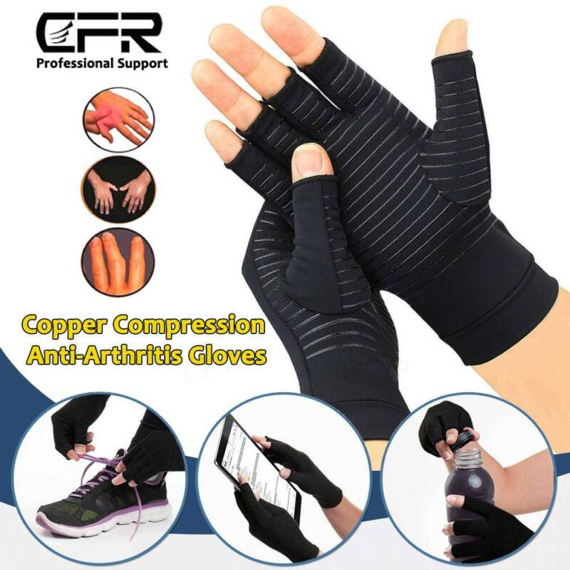 Arthritis Gloves Compression Support Hands Pain Copper Sleeve Carpal Tunnel Grip 3