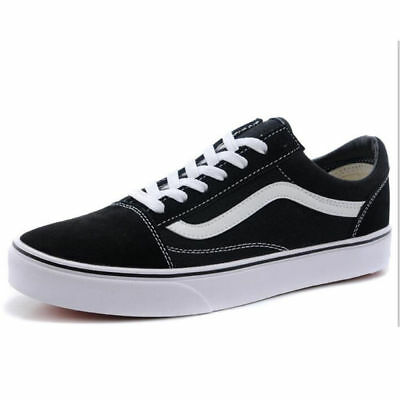 VAN Old Skate Shoes Black/White All Size Classic Canvas Sneakers UK3-UK9.5 8