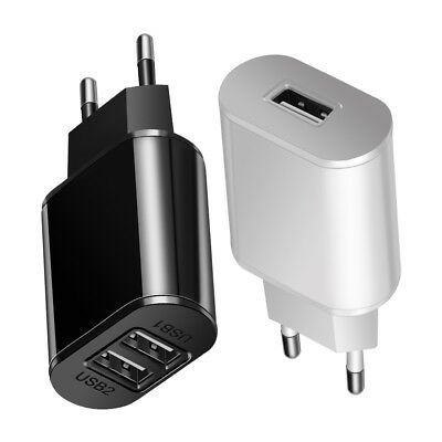 5V 2A EU Dual USB 2-Port Fast Charger Mobile Phone Wall Power Adapter For iPhone 12