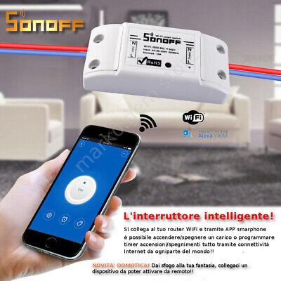 Domotica interruttore WiFi SHELLY e SONOFF  smartphone APP e NEST orologio alexa 5