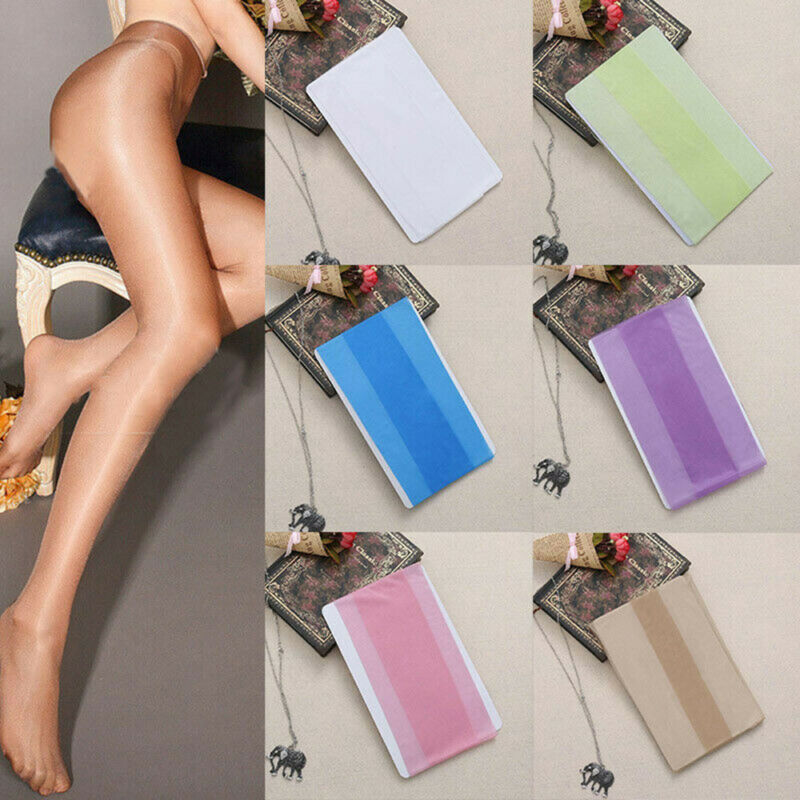 Seamless Women Pantyhose Stocking Oil Glossy Shiny Sheer Tights Crotch/Crotchles 6