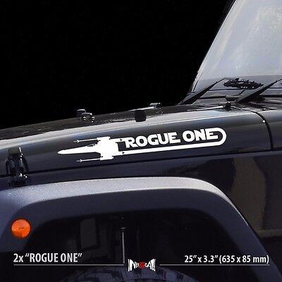 2x ROGUE ONE X WING Squadron Star Wars Car Vinyl Stripes Sticker Decal Set