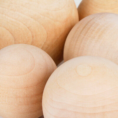 Natural Wooden Craft Wood Balls Sphere Round Craft 6mm to 60mm Dia Handmate 4