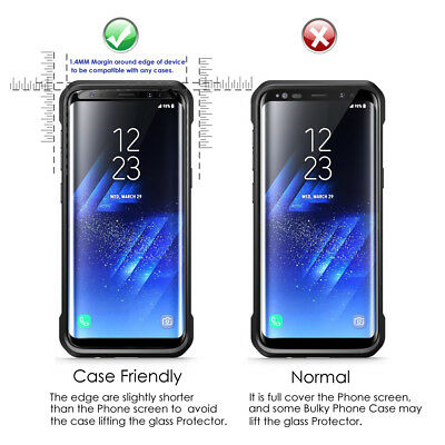 Case Friendly Curved Tempered Glass Screen Protector for Samsung Galaxy S9 S9+ 2