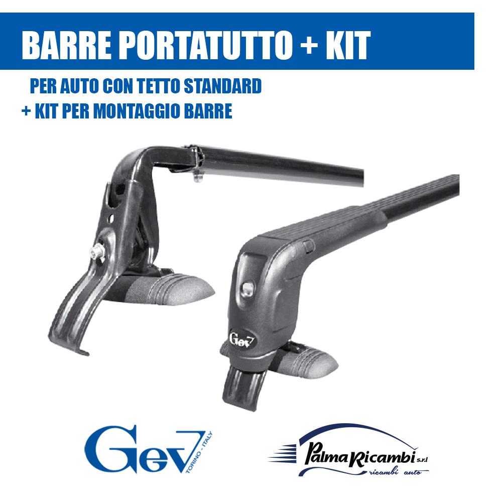 5600+58 BARRE PORTATUTTO//PORTAPACCHI NERE DISCOVERY GEV CON SERRATURE ANTIFURTO