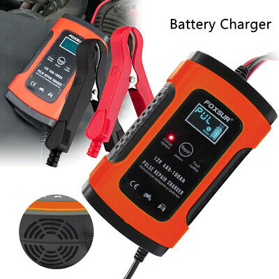 Car Battery Charger 12V 5A LCD Intelligent Automobile Motorcycle Pulse Repair UK 2