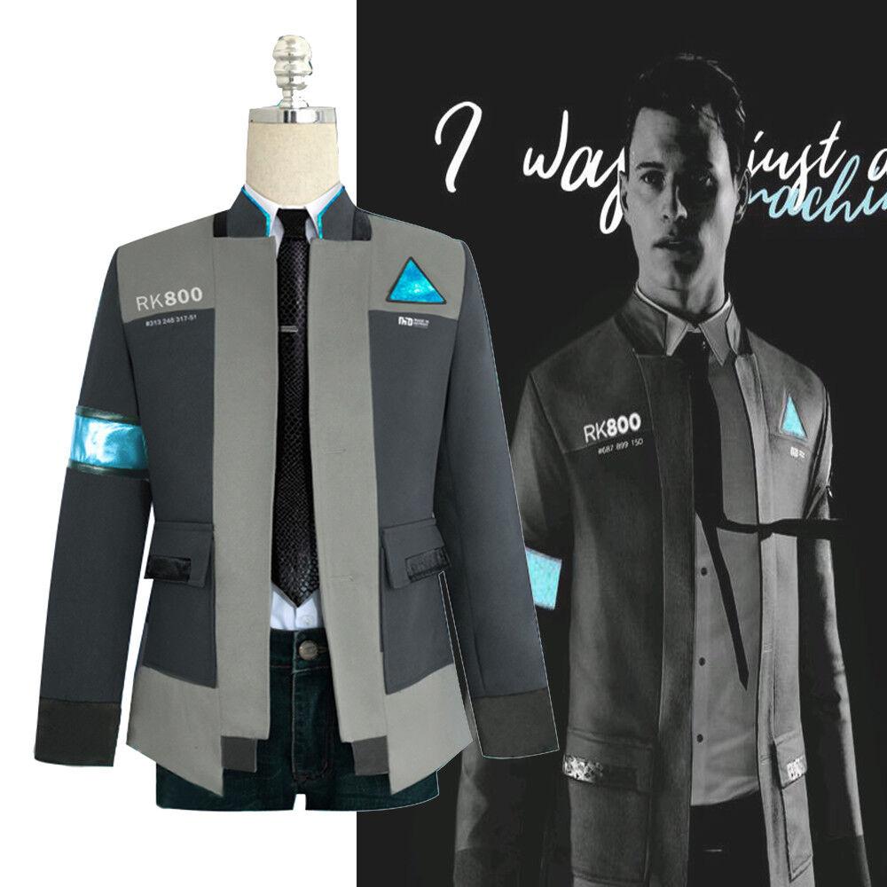 Detroit Become Human RK800 Connor Outfit Cosplay Jacke Mantel Anzug Set Kostüm