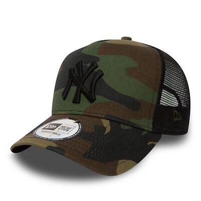 New Era Mens Baseball Cap.new York Yankees Mlb Camo A Frame Mesh Trucker Hat 73 2
