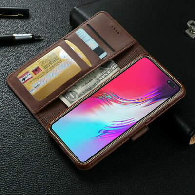 Samsung Galaxy S10 Plus 5G S10e S8 S9 Note8 9 10+ Wallet Case Leather Flip Cover 3