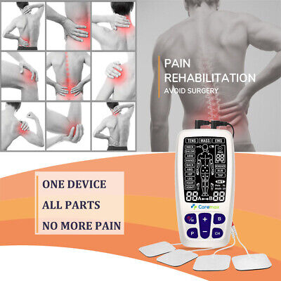 TENS Machine EMS 3 in 1 Combo Unit Pain Relief Massager LED w/Extra Pad Bundles 4