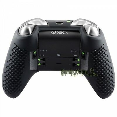 best service 69ca3 60a82 BLACK SOFT SILICONE Case Cover Skin Thumb Grips for Xbox One Elite  Controller
