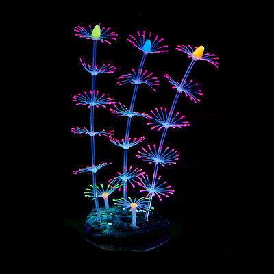 Silicone Artificial Fish Tank Aquarium Coral Plant Flower Ornament Water Decors 3